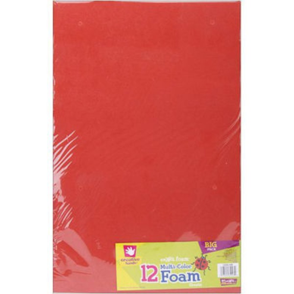 Creative Hands Sm'a Rt Foam 18 Inch X 12 Inch Multi Color Foam Sheets Big Pack