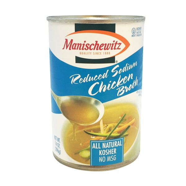 Manischewitz Chicken Broth, Reduced Sodium