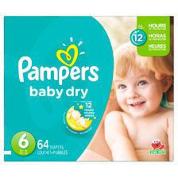 Pampers Baby Dry Diapers Size 6 64 Count Diapers