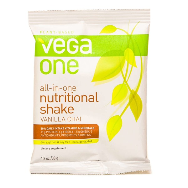 Vega One Plant-Based Vanilla Chai Flavor Nutritional Shake Drink Mix