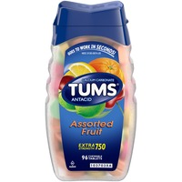 Tums Extra Strength 750 Assorted Fruit Chewable Tablets Antacid