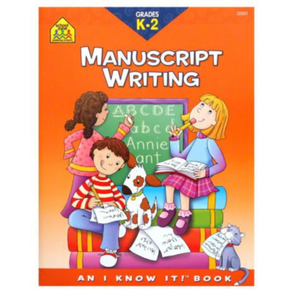 School Zone Grades K 2 Manuscript Writing Workbook