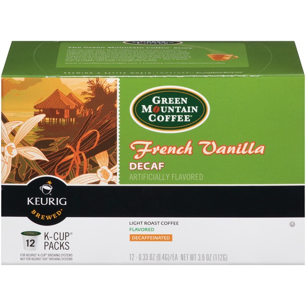 Green Mountain Coffee French Vanilla Decaf K-Cup Packs Coffee