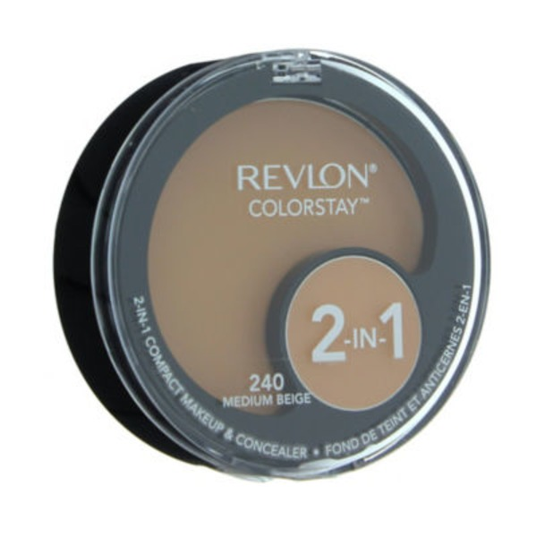 Revlon Colorstay 2-in-1 Compact Makeup And Concealer, Medium Beige