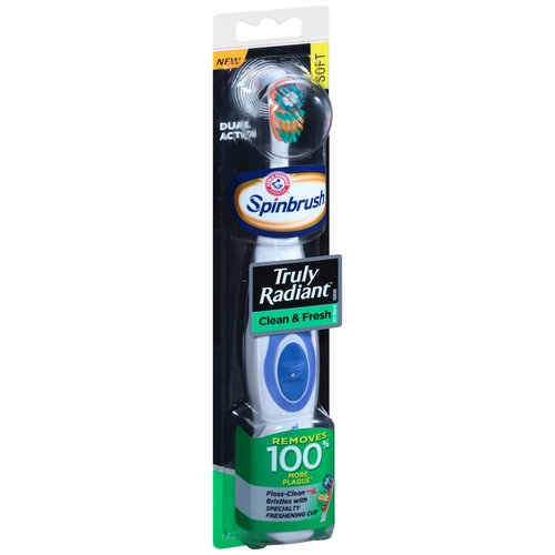 Arm & Hammer Spinbrush Truly Radiant Clean & Fresh Powered Toothbrush Soft