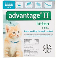 Advantage II Once-a-Month Topical Flea Prevention for Kittens 2-5 Lbs.
