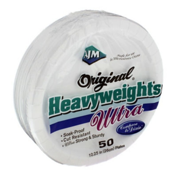 Ajm Original Heavyweights Ultra White Plates