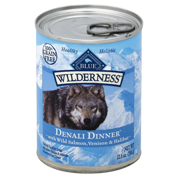 Blue Buffalo Dog Food, with Wild Salmon, Venison, & Halibut, Denali Dinner, Wilderness, Can