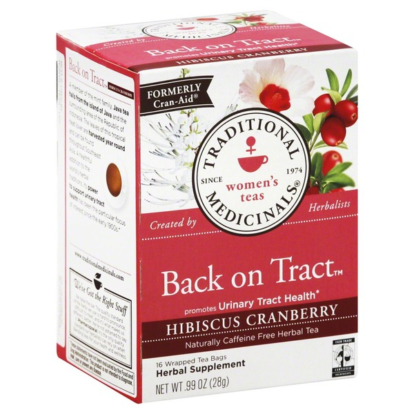 Traditional Medicinals Back On Tract Hibiscus Cranberry Naturally Caffeine-Free Herbal Tea