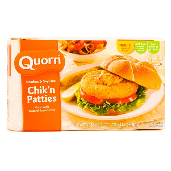Quorn Chik'n Patties Meatless & Soy Free - 4 CT