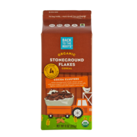 Back to the Roots Organic Stoneground Flakes Cocoa Clusters Cereal