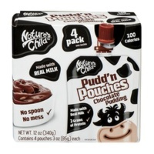 Nature's Child Pudd'n Pouches Chocolate Pudding
