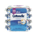 Cottonelle Fresh Care Flushable Cleansing Cloths, 42 Sheets, 4 Ct