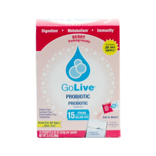 GoLive Berry Probiotic And Prebiotic Supplement Blend - Pomegranate
