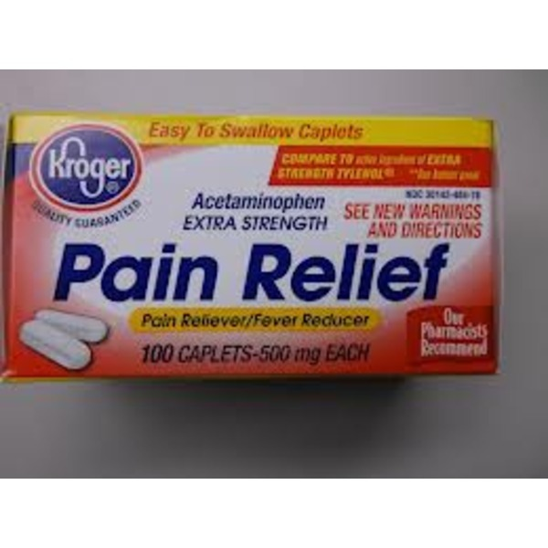 Kroger Extra Strength Acetaminophen Pain Relief Caplets, 500 Mg