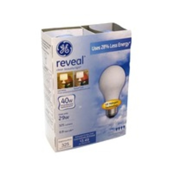 GE Reveal Halogen 40 Watt Incandescent Replacement Light Bulbs