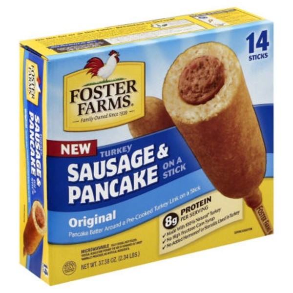 Foster Farms Turkey Sausage & Pancake, On a Stick, Original