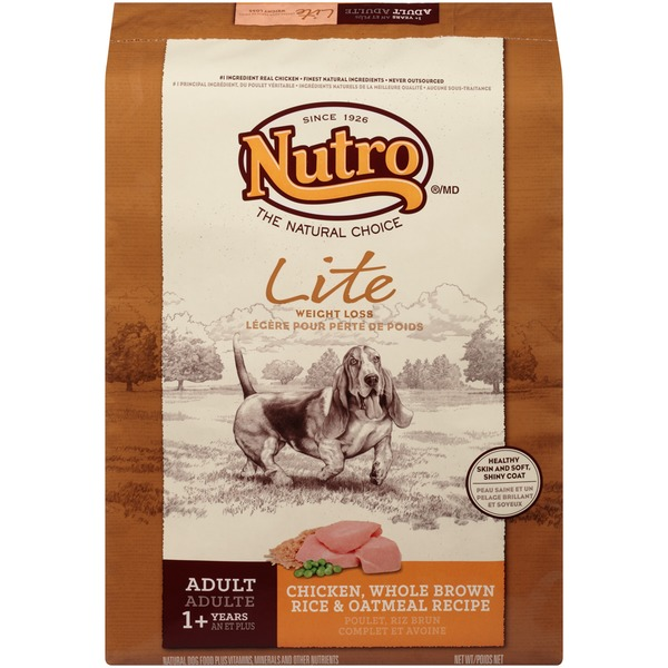 Nutro Lite Weight Loss Adult Chicken Whole Brown Rice & Oatmeal Recipe Dog Food