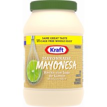 Kraft Mayo Mayonnaise with Lime Juice, 30 fl oz, Jar