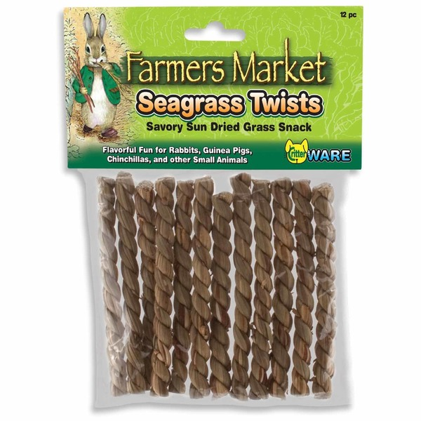 CritterWare Farmers Market Seagrass Twists Sun Dried Grass Snack