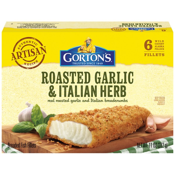 Gorton's Breaded Roasted Garlic & Italian Herb Fish Fillets