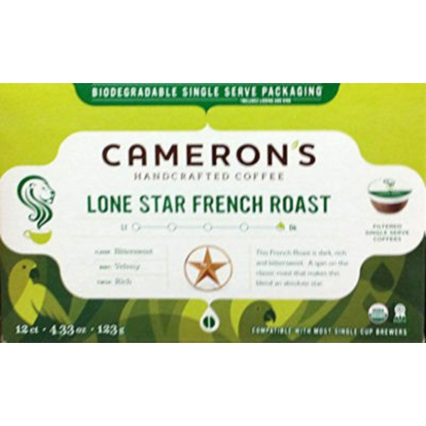 Cameron's Coffee Lone Star French Roast Single Serve Coffee