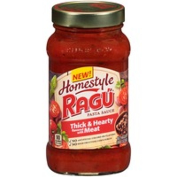 Ragu Homestyle Thick & Hearty Flavored with Meat Pasta Sauce