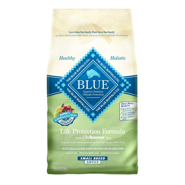 Blue Buffalo Small Breed Lamb & Brown Rice Adult Dry Dog Food 6 Lbs.