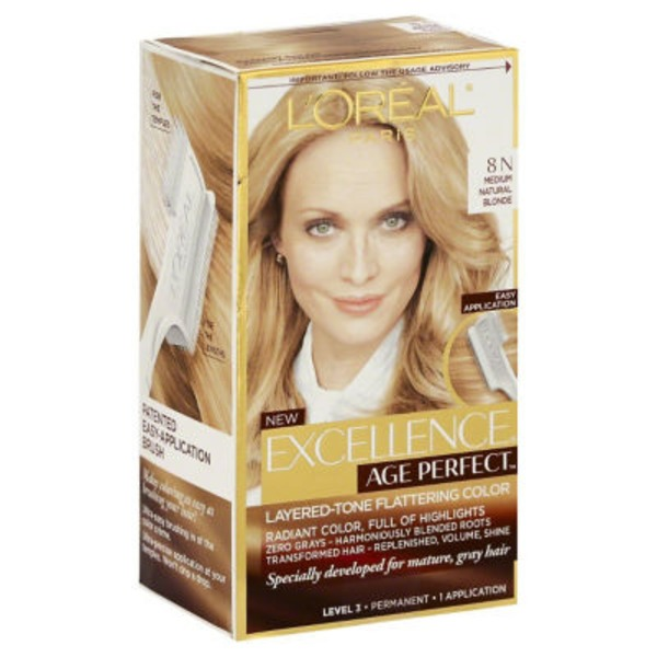 Excellence Age Perfect 8N Medium Natural Blonde Layered-Tone Flattering Color