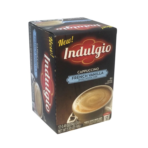 Indulgio French Vanilla Cappuccino Coffee K Cups