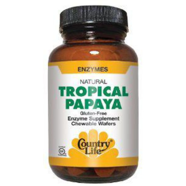 Country Life Tropical Papaya Chewable Wafers
