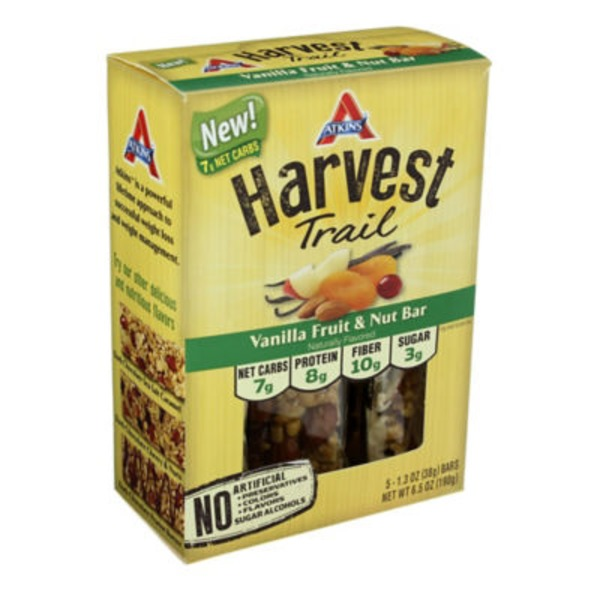 Atkins Harvest Trail Vanilla Fruit & Nut Snack Bars