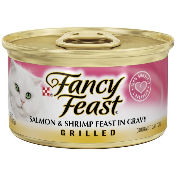 Fancy Feast Wet Grilled Salmon & Shrimp Feast in Gravy Cat Food