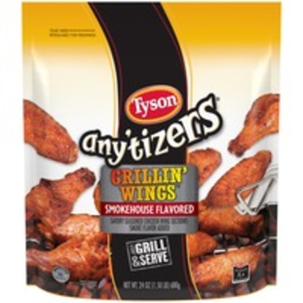 Any'tizers Grillin' Wings Smokehouse Flavored Chicken Wings