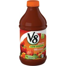V8 Low Sodium 100% Vegetable Juice, Spicy Hot, 46 Fl Oz, 1 Count