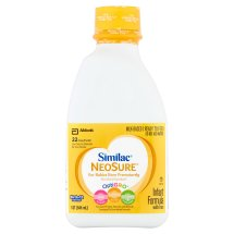 Similac NeoSure Infant Formula with Iron, For Babies Born Prematurely, Ready-to-Feed bottles, 1 qt