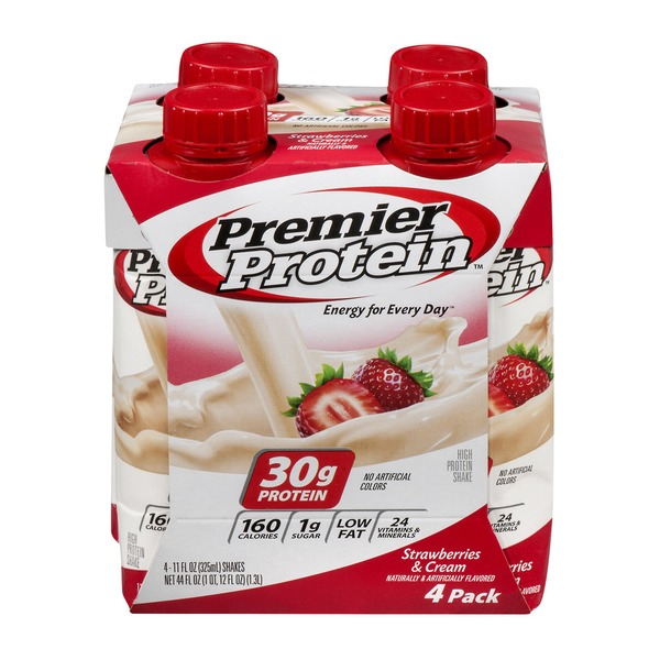 Premier Protein High Protein Shake Strawberries & Cream - 4 CT