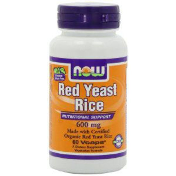 Now Organic Red Yeast Rice 600 mg V-Caps