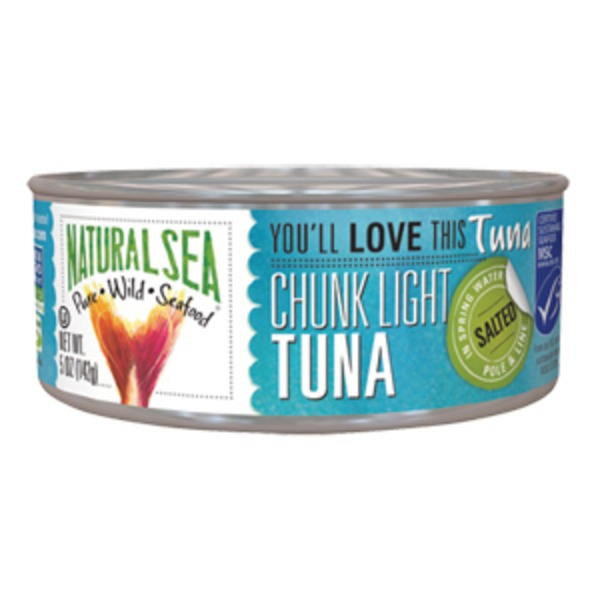 Natural Sea Tuna, Wild, in Water, No Salt Added