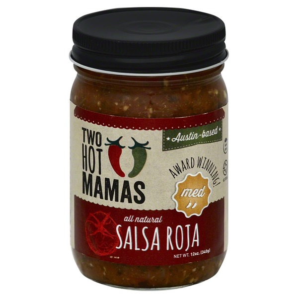 Two Hot Mamas Salsa, Roja, Med