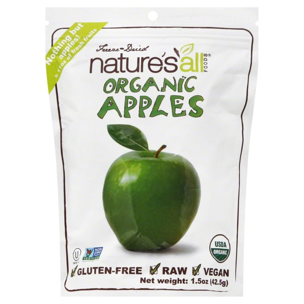 Nature's All Foods Apples, Organic, Freeze-Dried