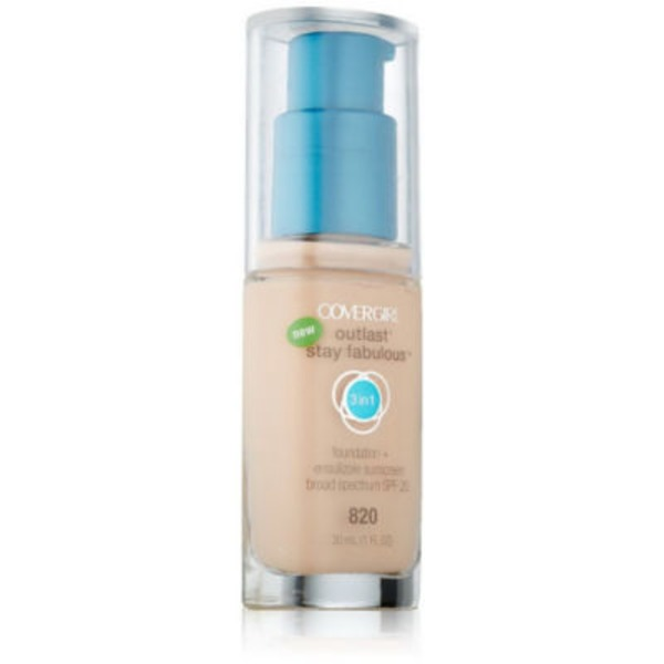 CoverGirl Outlast All Day COVERGIRL Outlast All-Day Stay Fabulous 3-in-1 Foundation, Creamy Natural 1 fl oz (30 ml)  Female Cosmetics