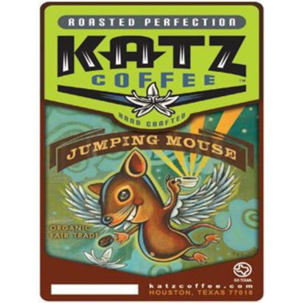 Katz Coffee Organic Jumping Mouse Espresso Blend Coffee