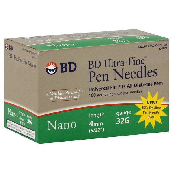 BD Ultra Fine Nano 4mm 32 Gauge Pen Needles