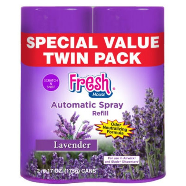 Fresh House Auto Spray Refill Lavender Twin Pack