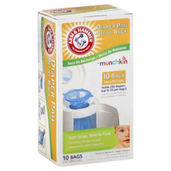 Munchkin Arm & Hammer Diaper Pail Refills Bags Lavender Scent - 6 CT