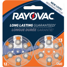 Rayovac Hearing Aid Battery Size 13, 12-Pack, L13ZA-12ZMB