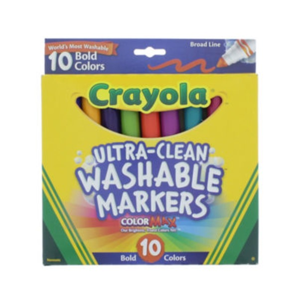 Crayola Ultra Clean Washable Broad Line Bold Color Markers