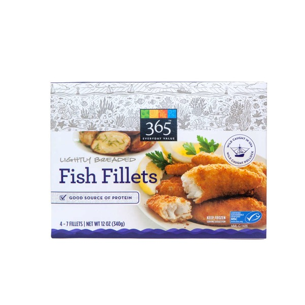 365 Lightly Breaded Fish Fillets