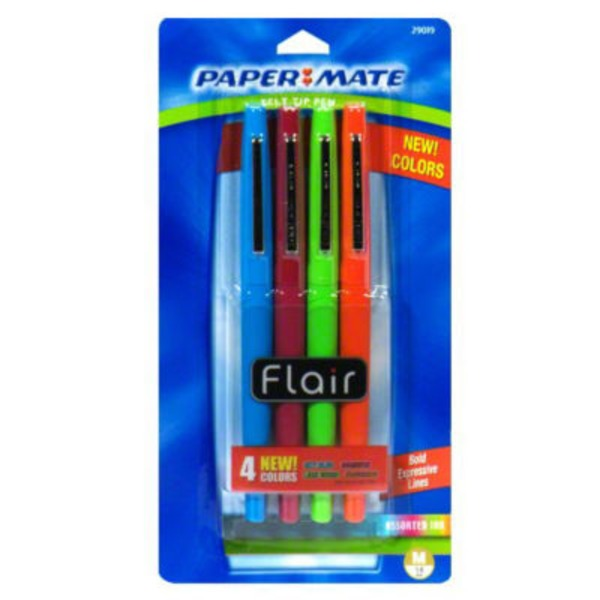 Paper Mate Flair Medium Point Assorted Inks Felt Tip Pens